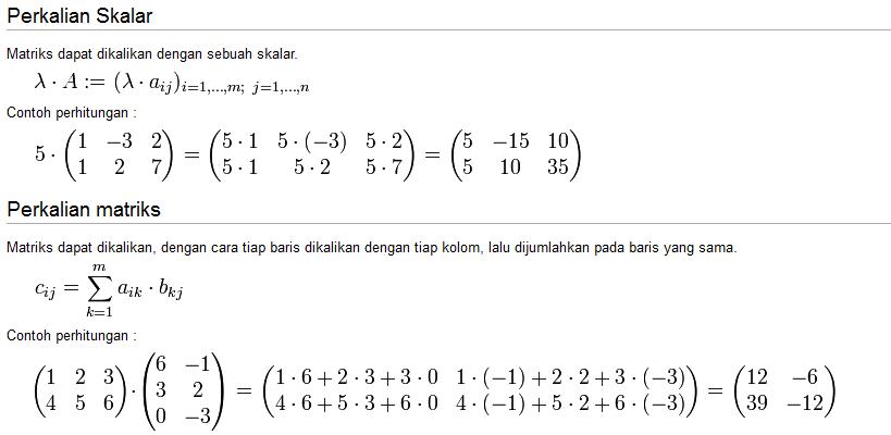 Contoh Perkalian Skalar Dan Perkalian Matriks Practice Makes Perfect