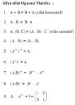 sifat sifat operasi matriks